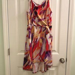 NWT Kim Rogers Dress Multi Color Petite Large